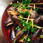 ginger soy butter mussels