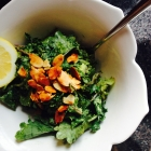 addictive avocado-lemon kale salad