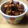spicy sticky chipotle maple cashews