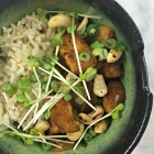 asian pear, cashew, and tofu stir-fry
