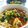 low carb shirataki noodle coconut curry soup