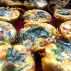mini crustless spinach feta quiches