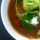 spicy vegan slow cooker tortilla soup