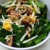kale salad with apples, walnuts and gruyere