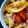 simple pasta sauce with tomato, butter, and onion