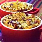 pumpkin casserole with crunchy pecan topping
