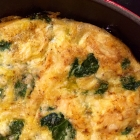 easy spinach garlic frittata