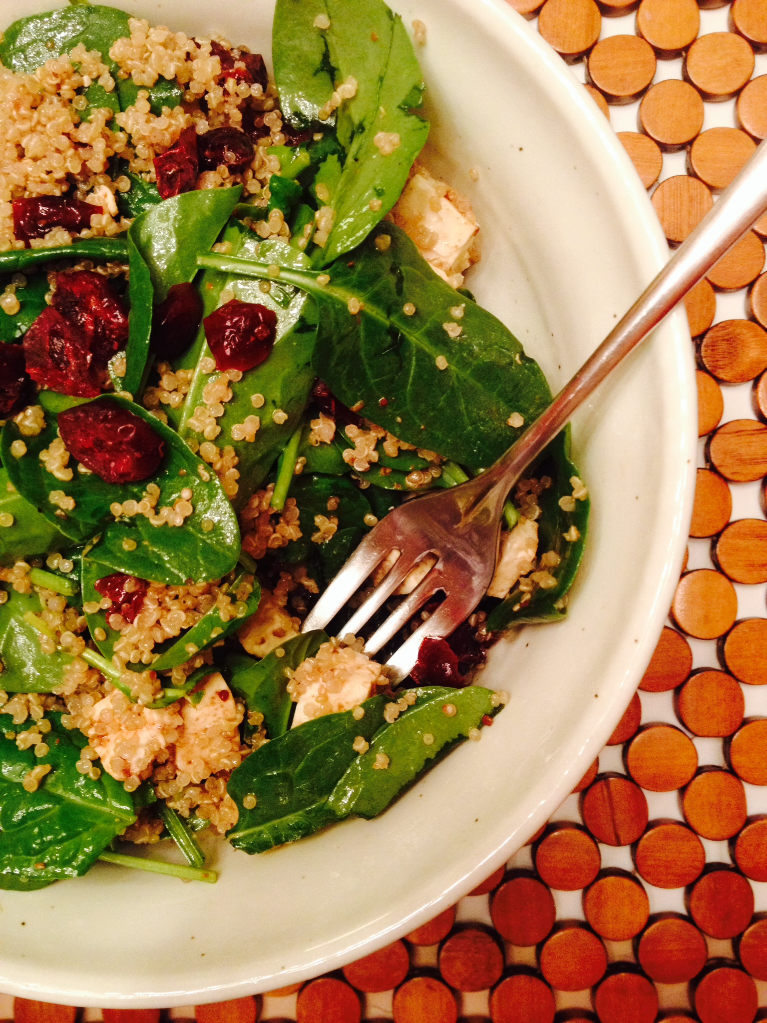 spinach quinoa feta salad :: by radish*rose