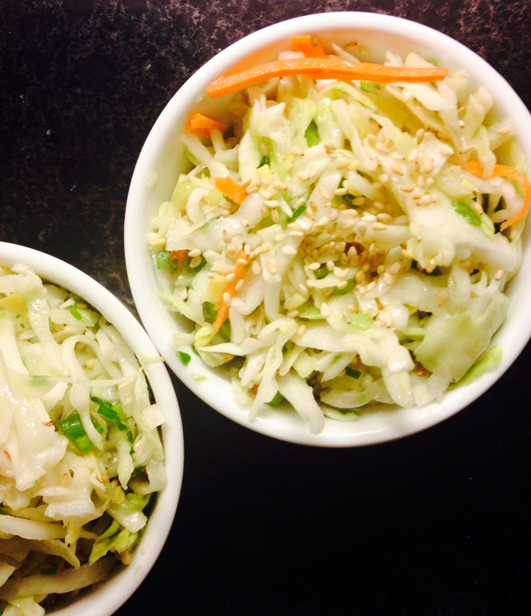 asian slaw in ramekins :: by radish*rose