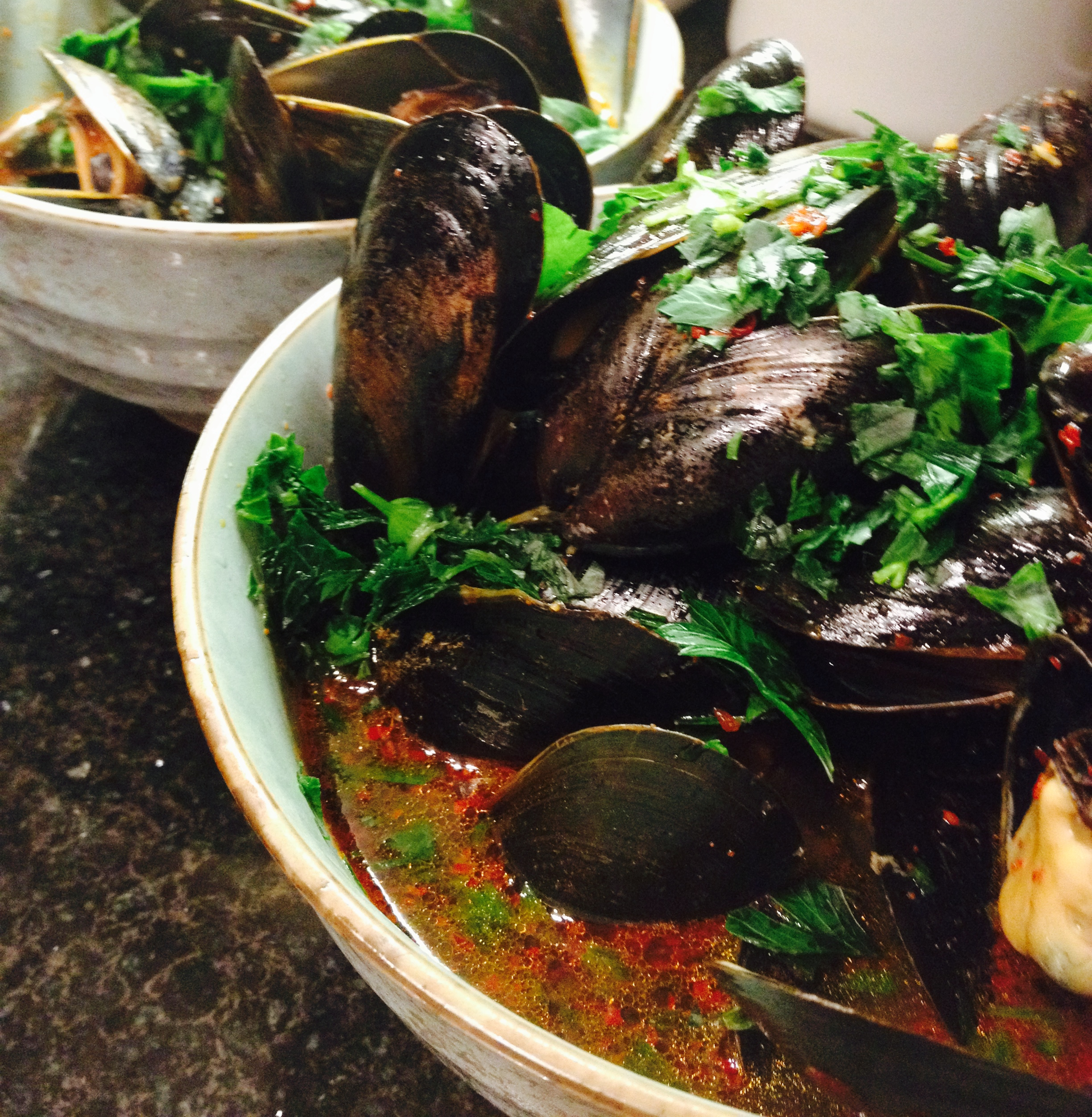 korean-style mussels in spicy broth.. :: by radish*rose