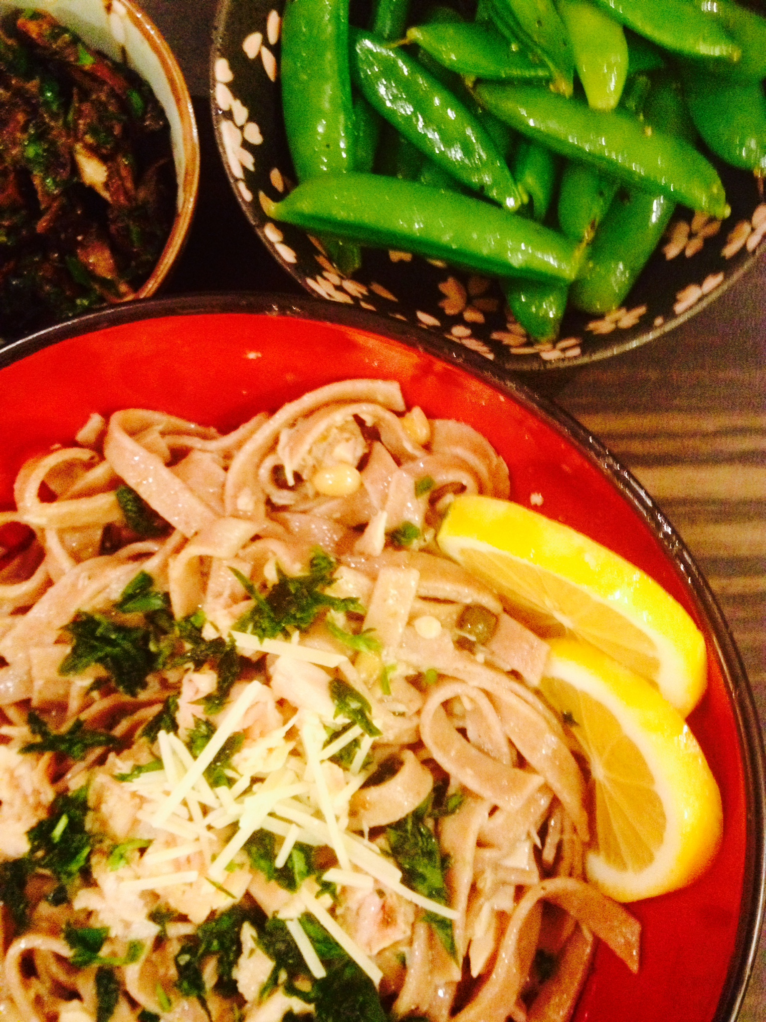 fancy tuna pasta with sides :: by radish*rose