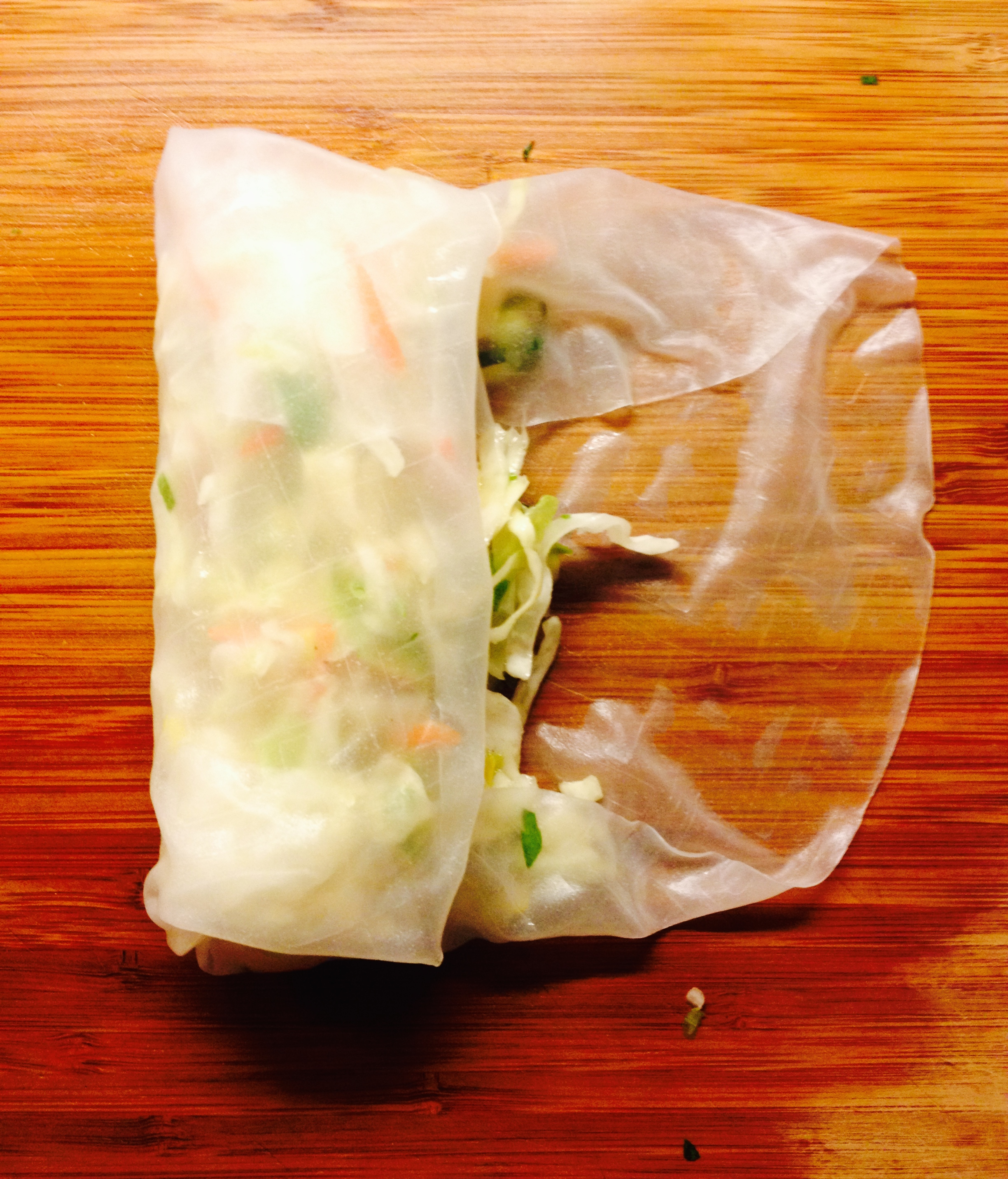 refreshing shrimp and ginger spring rolls step 3 :: by radish*rose