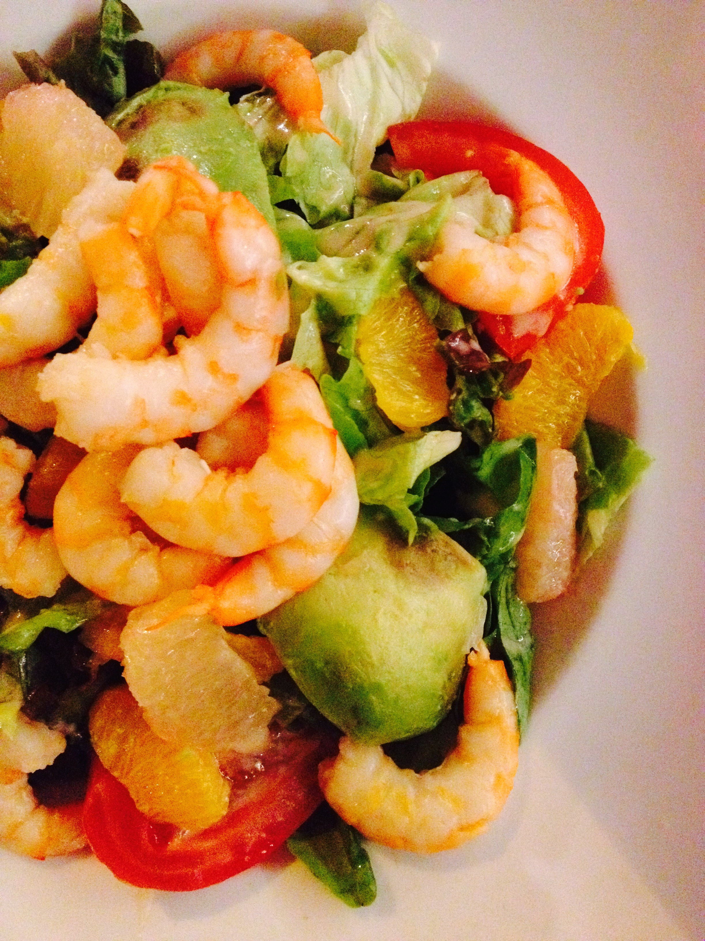 shrimp, avocado, and citrus salad at Le Cardinal :: by radish*rose