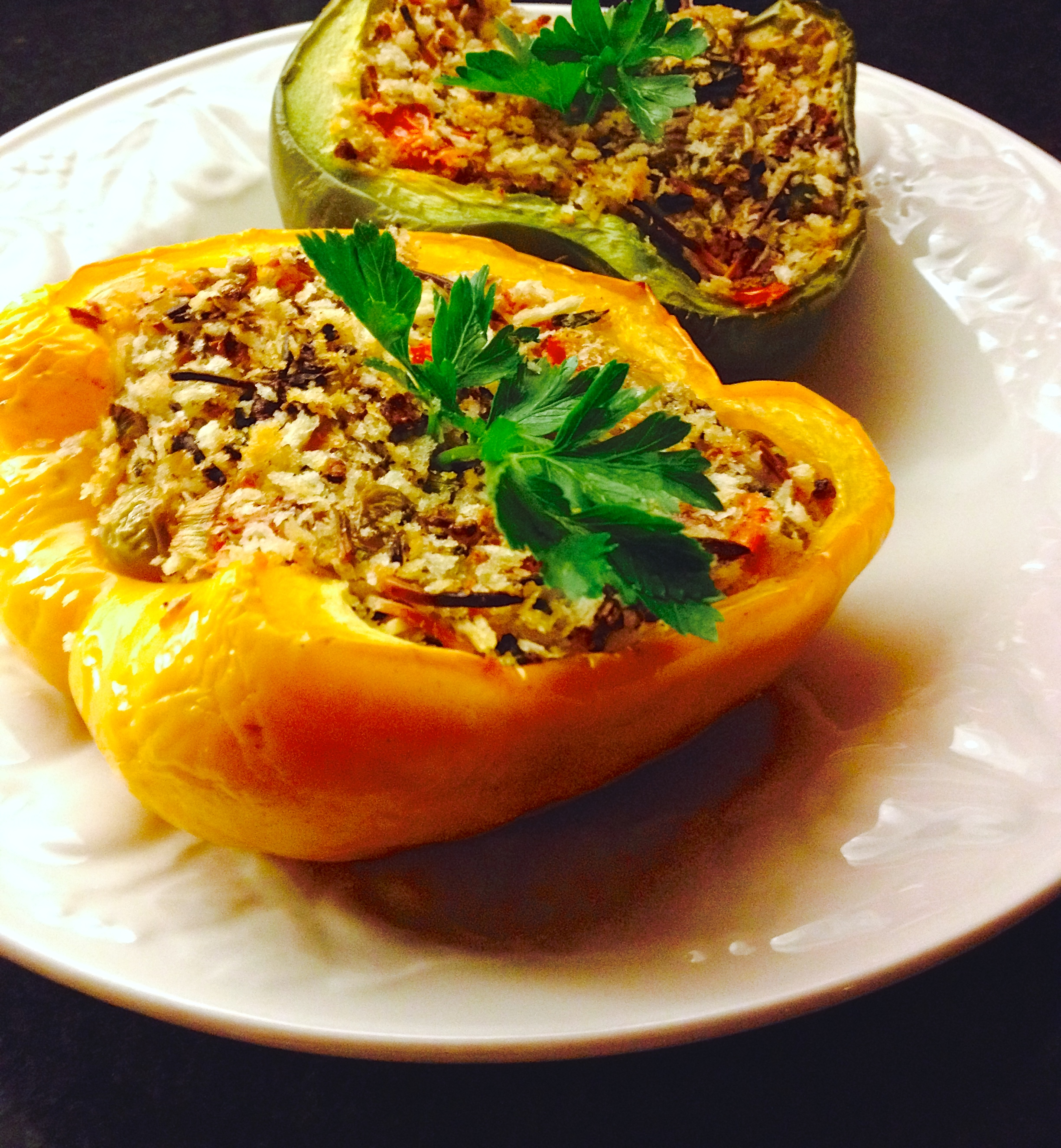 stuffed peppers with parmesan and olives :: by radish*rose