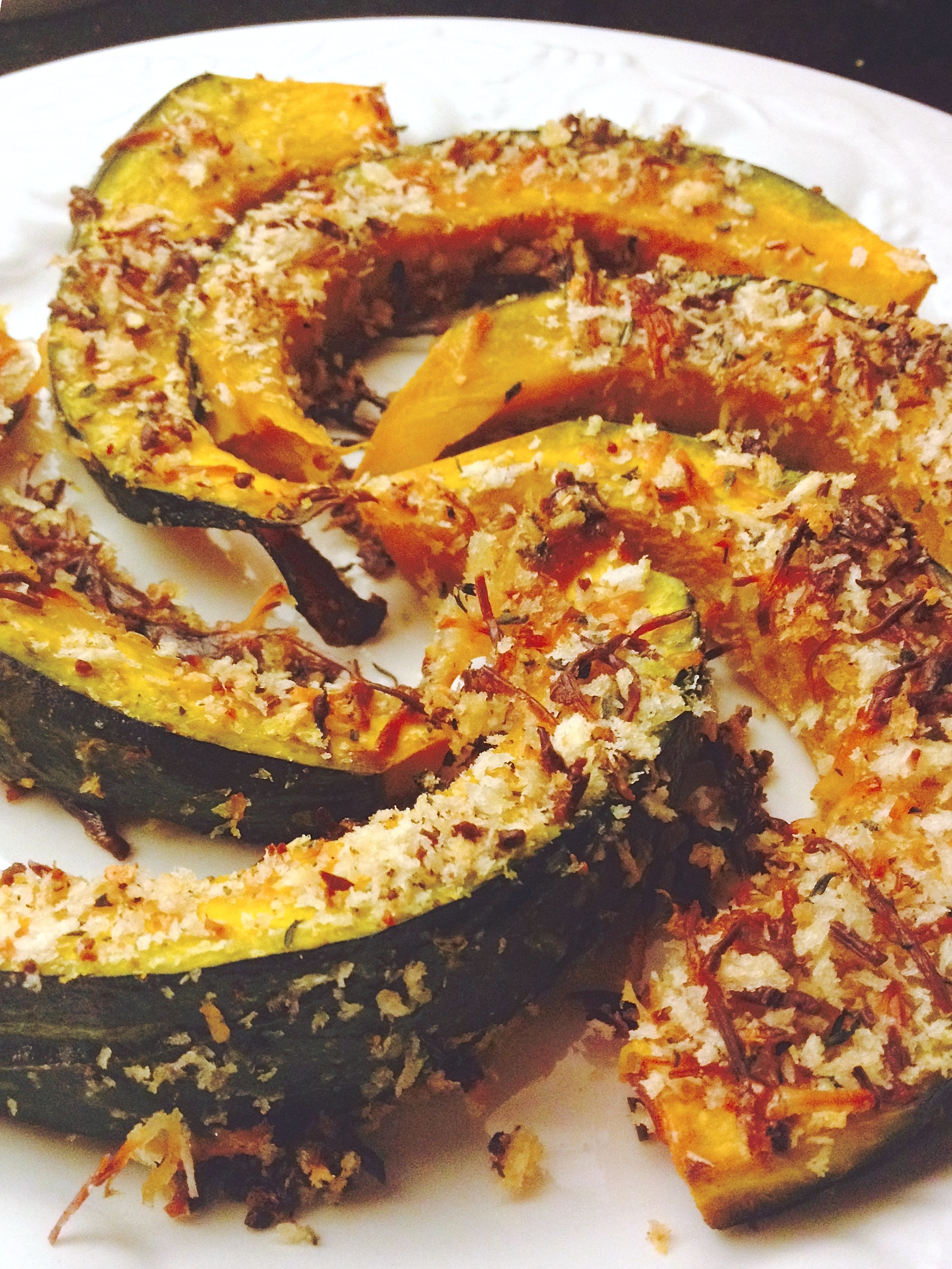 roasted pumpkin wedges with parmesan sage rosemary and thyme :: by radish*rose