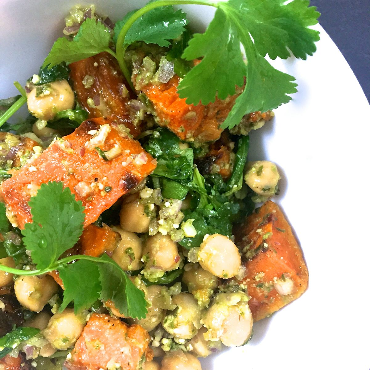 roasted butternut squash and chickpea salad :: by radish*rose