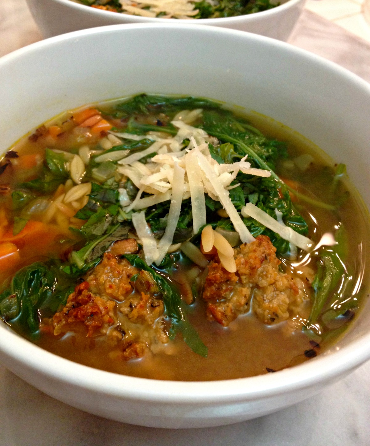 healthy vegetarian italian wedding soup | radish*rose