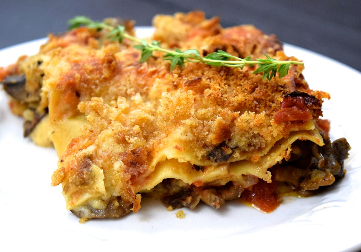 truffle thyme mushroom lasagna :: by radish*rose