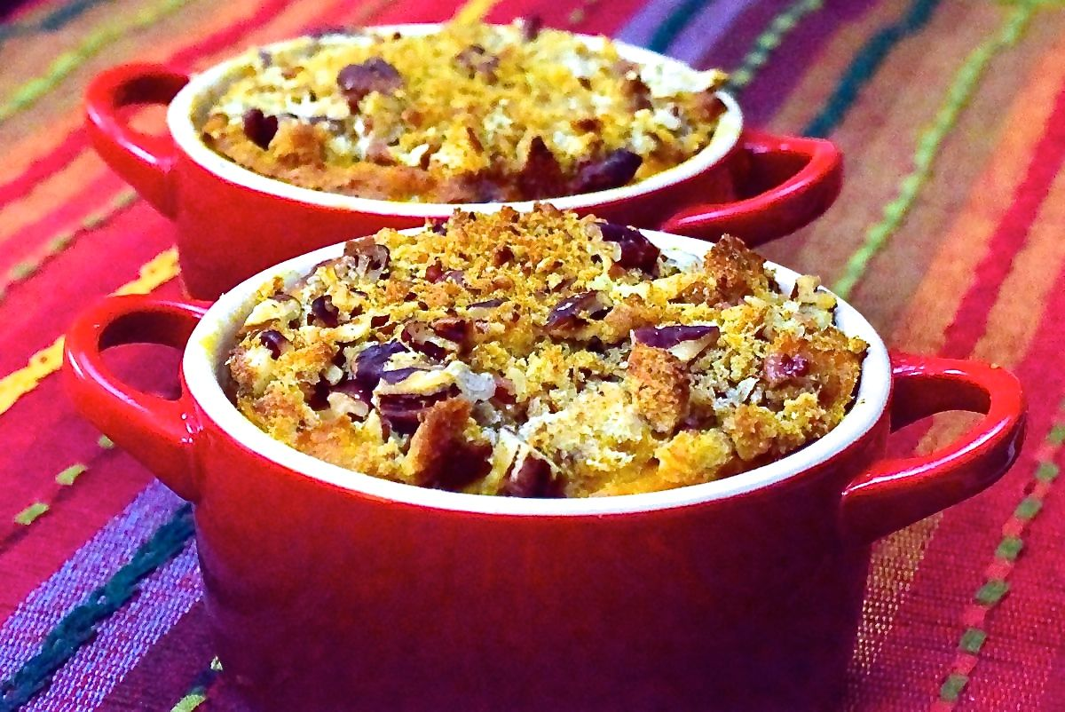 pumpkin casserole with crunchy pecan topping :: by radish*rose