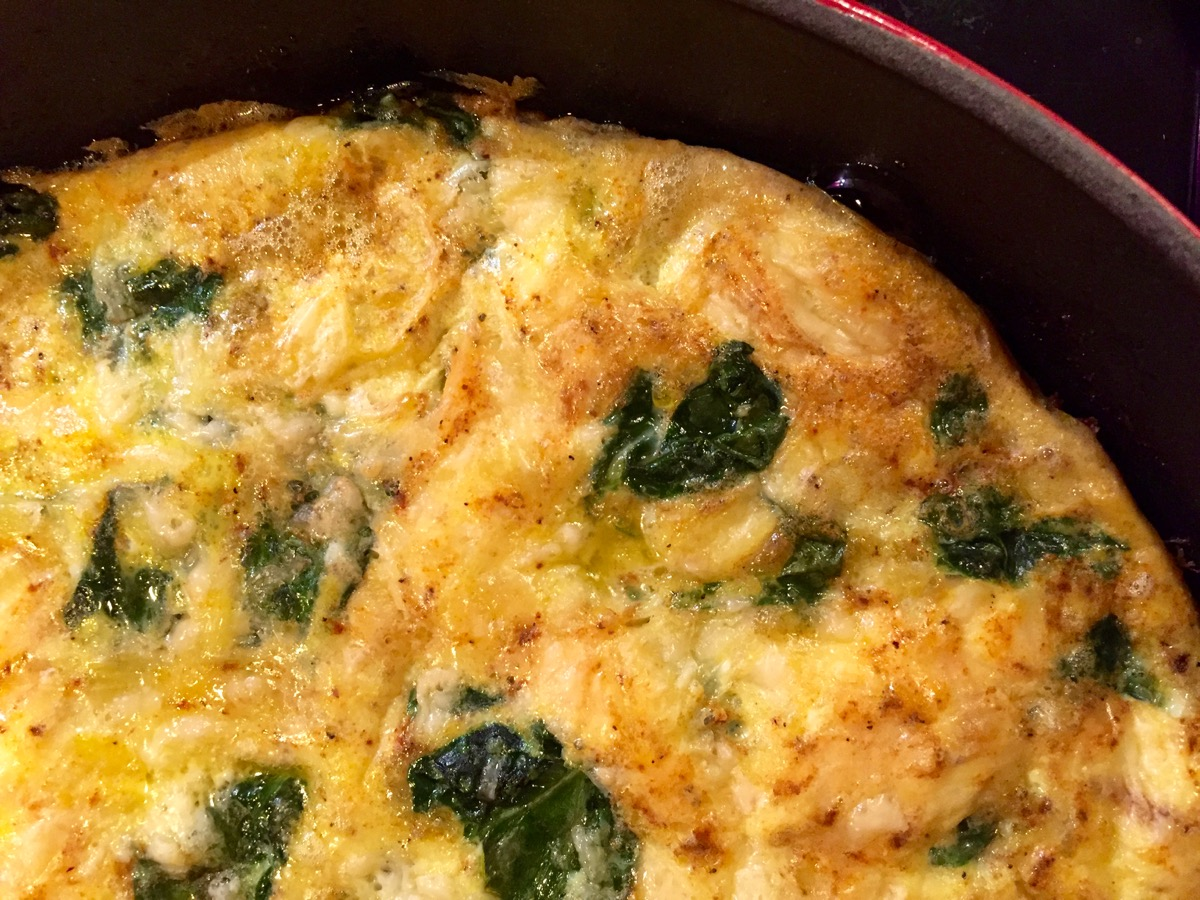 easy spinach garlic frittata :: by radish*rose